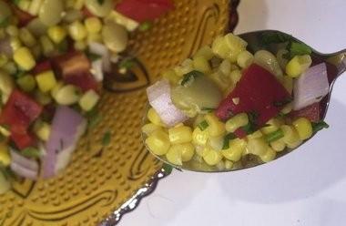 Succotash pairs corn and lima beans.