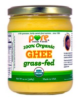 Make room in your pantry for a jar of 100% organic grass fed ghee made by Pure Indian Foods.