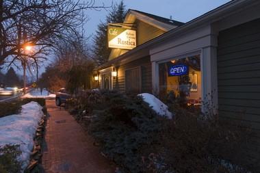The exterior of Cafe Rustica.