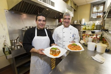 Chef/owners Jose Mejia (left) and Mario Carlino at Divina.