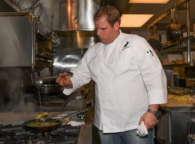 Chef Seadon Shouse of Halifax at work.