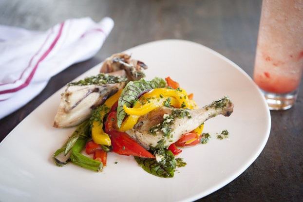 The Goffle Road chicken is just one of the many creative dishes at Chef's Garden located at the Crystal Springs Resort.