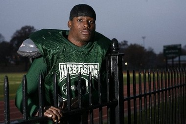 Tahir Whitehead poses for a picture during the 2007 high school football season.