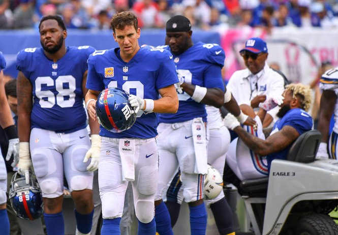f3c570eb Stunned Giants teammates react to WR Odell Beckham's gruesome ankle ...