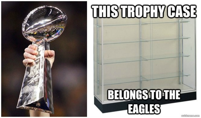 33def24d What does the Philadelphia Eagles trophy case really look like? (Hint: It  ain't big)   Ask Politi