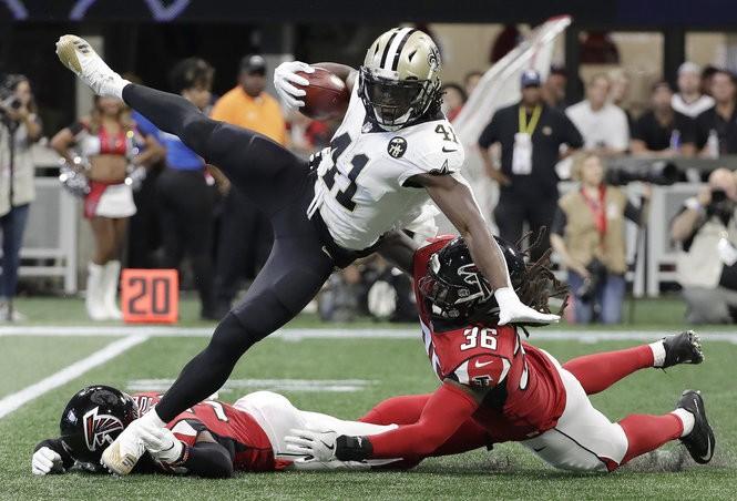 pretty nice 408a9 28b09 Giants' Dalvin Tomlinson on how to stop Saints' Alvin Kamara ...