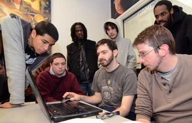 Camden County College was a site for the 5th annual Global Game Jam, where teams of students have 48 hours to create games of a theme designated at the start of the event, on Sunday, January 27, 2013. (Staff Photo by Joe/Warner/South Jersey Times)