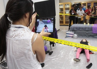 Mock CSI highlights Aim High Science and Technology program
