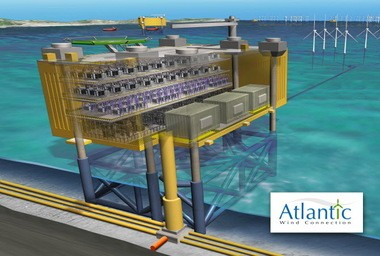 An artistic rendering of a wind energy converter. A new feasibility study says the Paulsboro Port will be a viable place to construct these converters to be shippped to the Atlantic Ocean for a wind energy project.