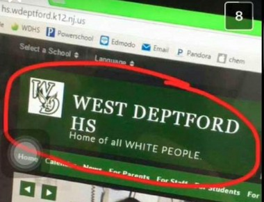Racial tensions are high at West Deptford High School after a pair of social media postings prompted a silent protest and caused the school to address the issues.