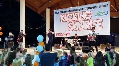 The band Kicking Sunrise returned to its hometown of Washington Township last week for a performance at Washington Lake Park. (Lauren Rodia | For NJ Advance Media)