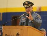 Retired Washington Township Chief Rafael Muniz speaks at a 2016 police graduatiuon ceremony. (Joe Warner | For NJ Advance Media)