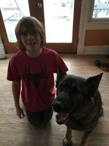 Cole Galanti, 10, and Abal.