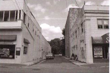 An undated photo of Pitman's Theater Avenue, which officials hope to transform into a small park.