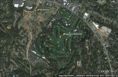 A map of the house at 1112 Stanley Drive, which is just a short walk from Augusta National, home of the Masters.