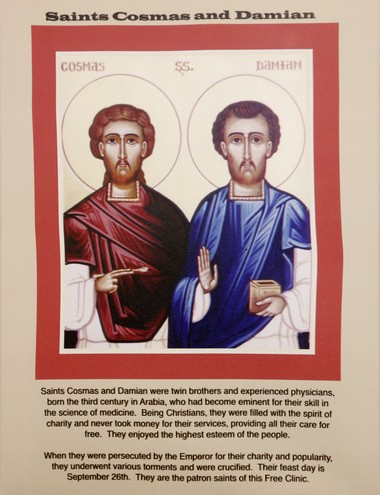 Eye surgeon Jeffrey Liegner considers Saints Cosmas and Damian to be the patron saints of the Newton Free Clinic. The two brothers were Christian martyrs who were killed because they provided free medical care to the poor. (Aristide Economopoulos | NJ Advance Media for NJ.com)