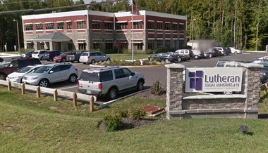 A Google street view image of the Burlington Township headquarters of Lutheran Social Ministries of New Jersey