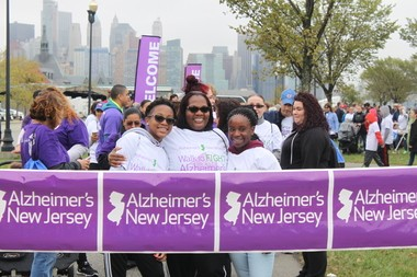 Alzheimer's New Jersey expects some 10,000 people to take part in the four fund-raising walks it hosts this fall, including this one that took place in Jersey City on Oct. 1.