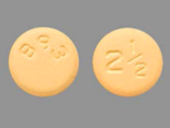 The 2.5 mg tablets of Bristol-Myers Squibb's drug Eliquis (Bristol-Myers Squibb)