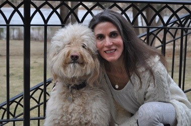 Dr. Elizabeth Pegg Frates overcame a lifelong fear of dogs when she adopted Reesee. 'She's very gentle, oh my goodness, full of love all the time,' Frates says.
