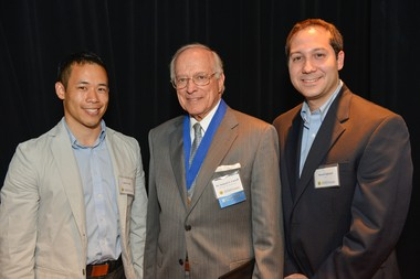Adam Yeung (Marketing Intelligence Analyst, Diabetes Care, BD), Dr. Samuel A. Cassell (Honoree) and Morad Elghazal (Senior Treasury Financial Analyst, BD)