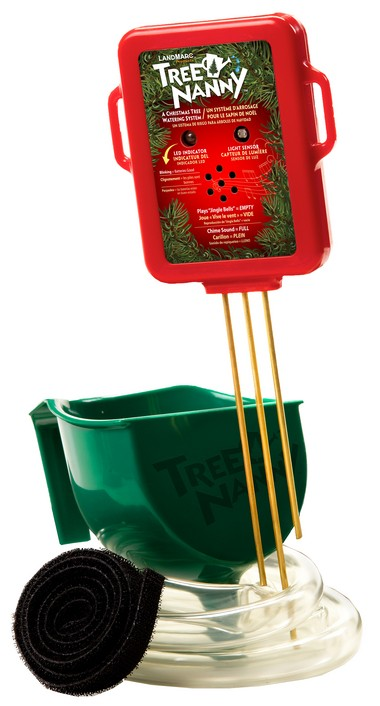 Christmas Tree Watering System.Christmas Safety Gadgets Help Keep Tree Watered And Plug