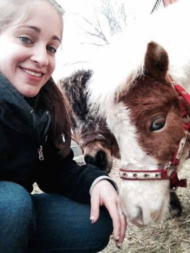 Elisabeth Leahy, was inspired to become a veterinarian by her first pony, Blaze. Leahy is now studying at Michigan State University.