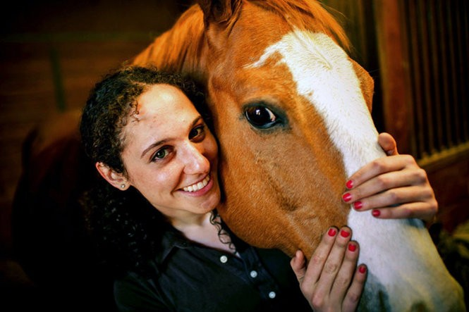 Sarah Colmer, is studying veterinary medicine at the University of Pennsylvania.