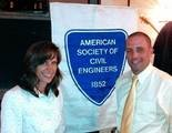 Hoboken Mayor Dawn Zimmer and Stevens Institute of Technology professor Jon K. Miller are honored by NJ Chapter of American Society of Civil Engineers.