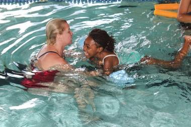 Children participate in the Hoboken Housing Authority Swim Club. Photo courtesy of the Hoboken Housing Authority.
