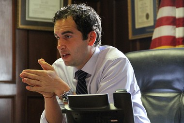 Jersey City Mayor Steve Fulop is contrasting the city's economic strength with the state's financial woes. Reena Rose Sibayan | The Jersey Journal