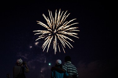 The city of Bayonne celebrated its new mayor with fireworks, July 1, 2014. Chase Gaewski/The Jersey Journal