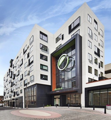 The Element Harrison-Newark hotel in Harrison opened on Aug. 21, 2014.