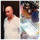 An unidentified man has been allegedly stealing tip and donation jars from businesses in Downtown Jersey City. The photo on the left was taken by a worker at Word Bookstore, while the photo on the right shows the man stealing a donation jar from Fussy Friends. Facebook photos