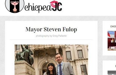 A screen shot of the Jersey City blog ChipeaJC.com website post of a Q&A with Jersey City Mayor Steve Fulop.