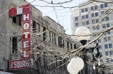 The Hotel on the Square, as seen in 2006. It was demolished three years later. Reena Rose Sibayan | The Jersey Journal