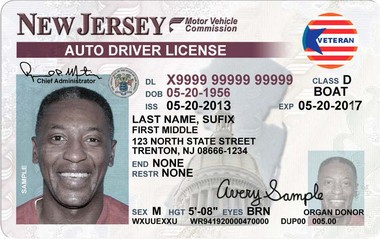 On Sticker Veteran's Veterans Id - Nj License Hudson Can Driver's County Use com For