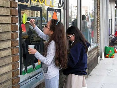 Jersey City students will paint Central Avenue business storefronts in a Halloween contest. (Central Avenue Special Improvement District photo)