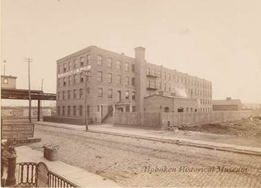 An antique photo of Neumann Leathers industrial complex. (Photo courtesy of Hoboken)