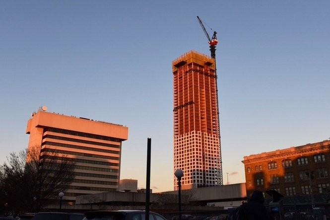The first tower of Journal Squared, a three-tower project in Journal Square, on Dec. 3, 2015. Reena Rose Sibayan | The Jersey Journal