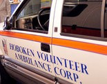 A blizzard forced Three Emergency Medical Technicians from the Hoboken Volunteer Ambulance Corps. to deliver a baby at a city home Saturday evening.
