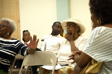 Members of the Jersey City branch of the NAACP are seen at a meeting in July 2104. Chase Gaewski | The Jersey Journal