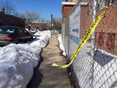 Police tape is left behind on Virginia Avenue in Jersey City after police shot a man they said dragged a police officer with a stolen car last month. Bill Braker, president of the Jersey City branch of the NAACP, said crime is the number one issue for the organization's members. Caitlin Mota | The Jersey Journal