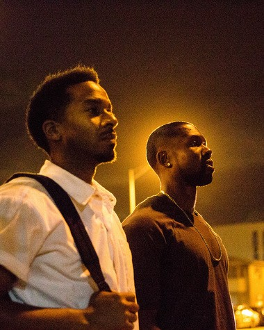 """Andre Holland and Trevante Rhodes in a scene from """"Moonlight."""""""