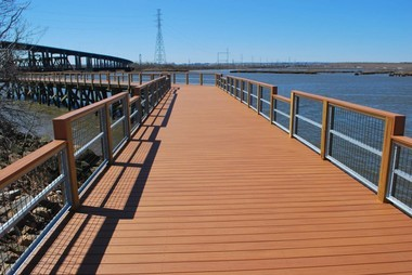 A portion of the Hackensack River walkway in Laurel Hill Park in Secaucus.