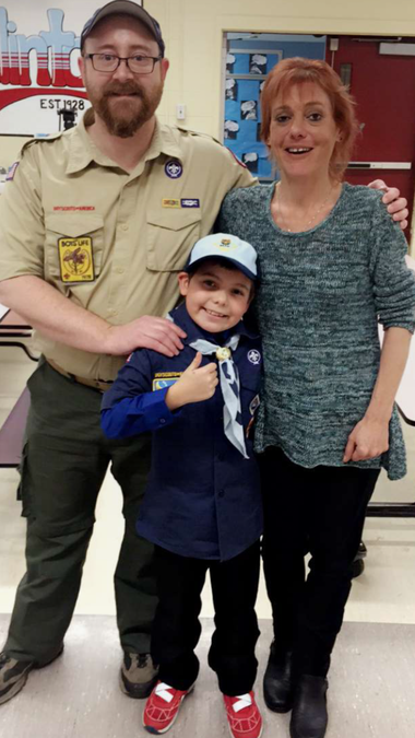 Joe Maldonado enjoys his first Cub Scout meeting on Tuesday, Feb. 8 after joining the Boy Scouts in Maplewood.