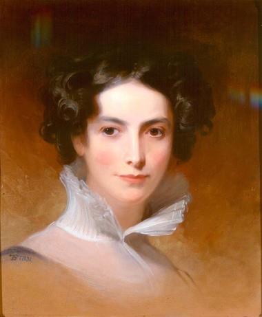 Thomas Sully's portrait of Rebecca Gratz in 1831.
