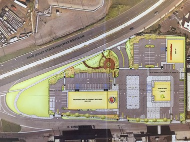 An Alessi development along Route 440 at East 21st Street in Bayonne will include a Quick Chek, a Burger King, an Auto Zone and a residential building.