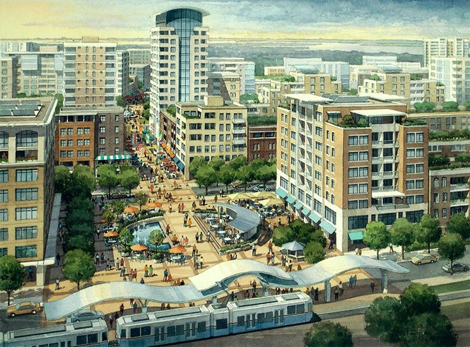 An artist's rendering of what Bayfront could look like fully developed.