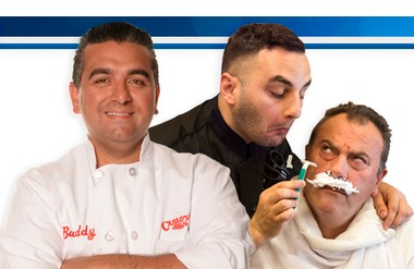 "(l-r) Buddy Valastro, Ralpha Attanasia and Danny Dragone of ""Cake Boss"""